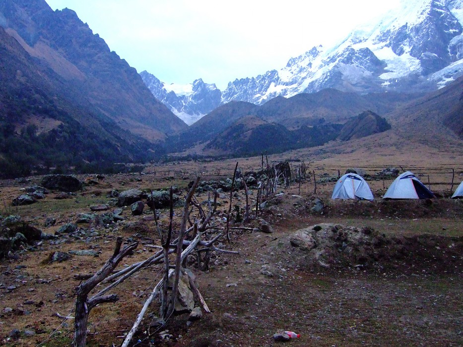 camp, hiking to Salkantay (2008)