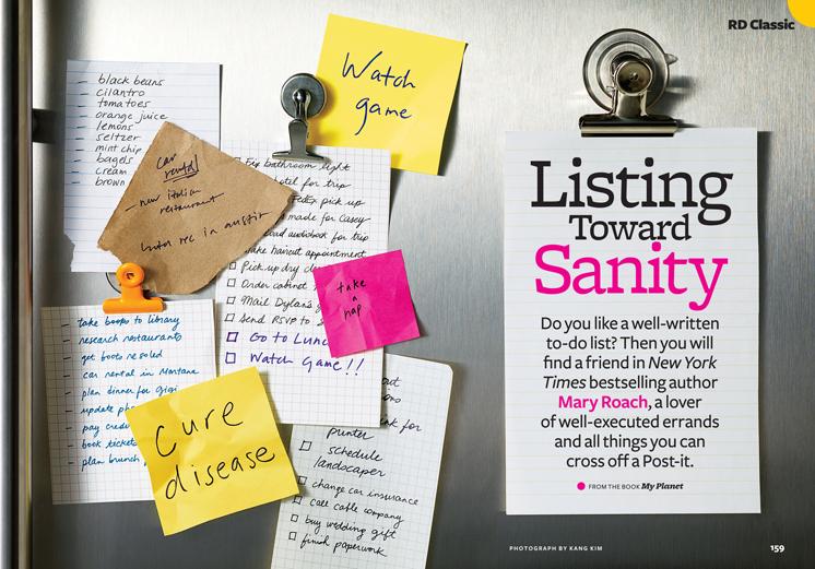Listing Toward Sanity
