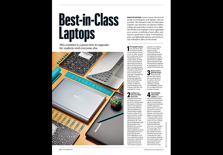 Lab Tests: Best-in-Class Laptops